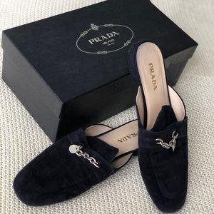 Prada Woman Loafers Navy 41